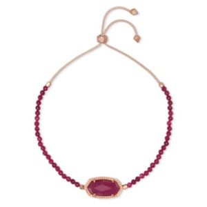 Kendra Scott Eliana Maroon Jade Beaded Bracelet